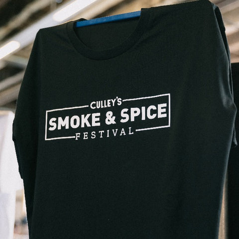Culley's Smoke & Spice Festival T-Shirts - Black with Design