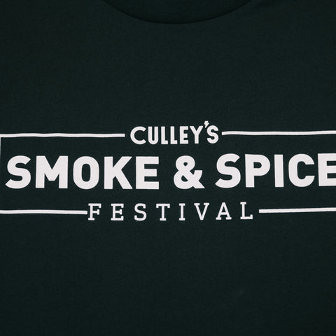 Culley's Smoke & Spice Festival Singlet - Black with the design