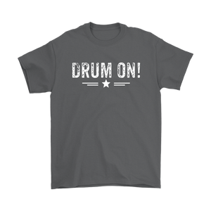 Gildan Mens Drum On! T-Shirt - White Design