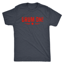 Next Level Mens Drum On! Triblend T-Shirt - Orange Design