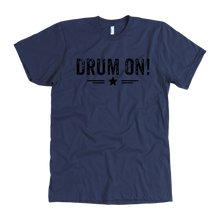 American Apparel Mens Drum On! T-shirt - Black Design