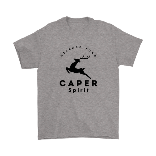 Release Your Caper Spirit T-Shirt - Deer (Black Design)
