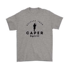 Release Your Caper Spirit T-shirt - Piper (Black Design)