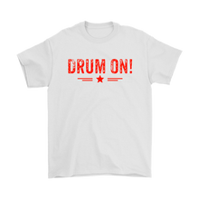 Gildan Mens Drum On! T-Shirt - Orange Design