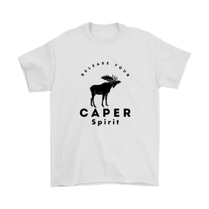 Release Your Caper Spirit T-shirt - Moose (Black Design)