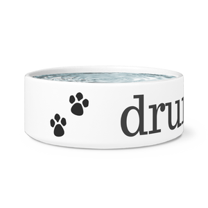 Drum On Dog Bowl - Black Design