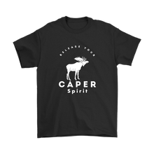 Release Your Caper Spirit T-Shirt - Moose (White Design)