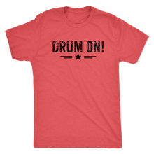 Next Level Mens Drum On! Triblend T-Shirt - Black Design