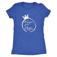 Next Level Womens Triblend T-Shirt - Keeper Of The Rhythm White Design
