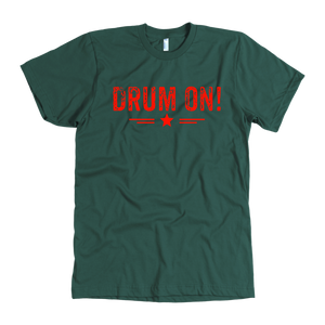 American Apparel Mens Drum On! T-shirt - Orange Design