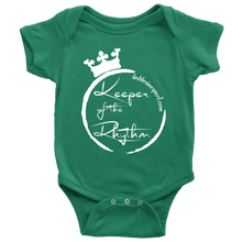 Keeper Of The Rhythm Baby Bodysuit - White Design