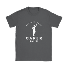 Release Your Caper Spirit T-shirt - Highland Dancer (White Design)
