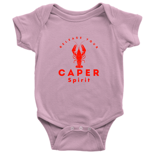 Release Your Caper Spirit Baby Bodysuit - Lobster