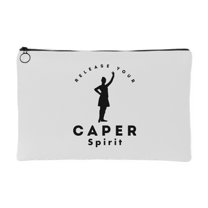 Release Your Caper Spirit Accessory Pouch - Dancer (White w/Black Design)