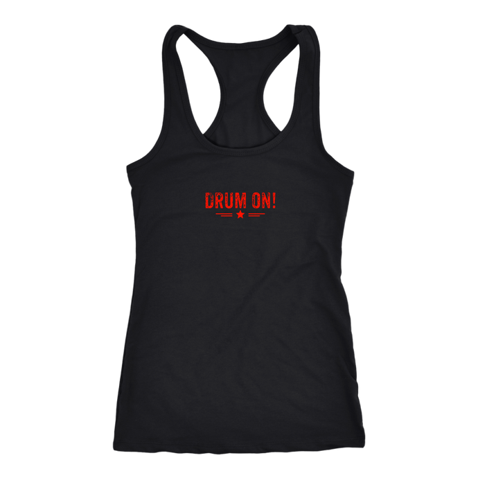 Next Level Racerback Tank - Orange Design