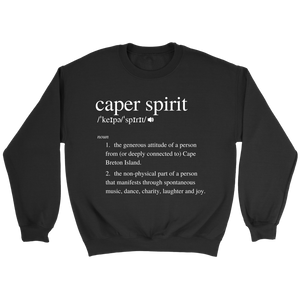 Caper Spirit Definition Sweatshirt- White Design