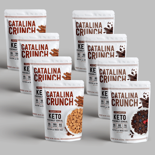 Catalina Crunch Cinnamon Toast and Dark Chocolate Cereal 8 Pack