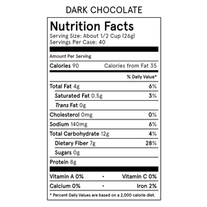 Catalina Crunch Dark Chocolate Cereal Nutrition Table