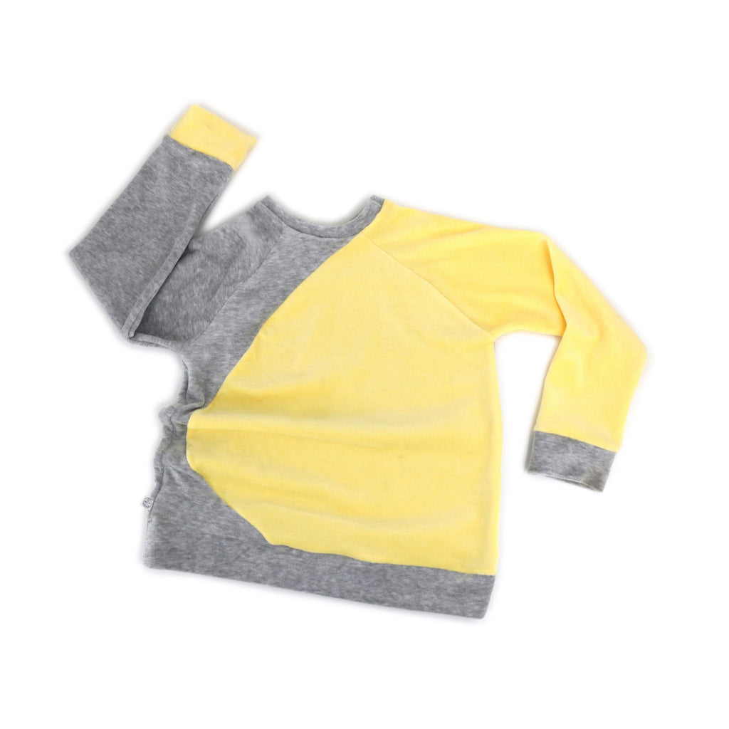 BIBI sweat jaune/gris
