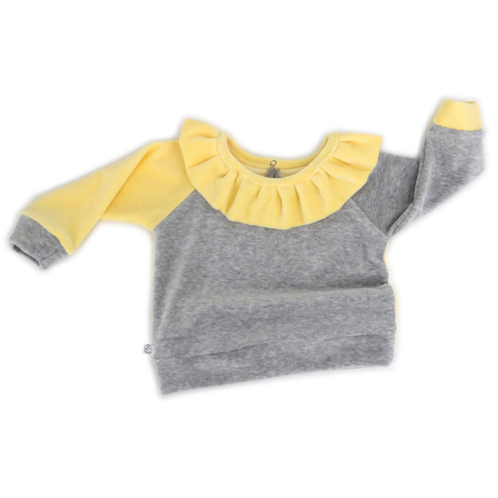 COCO sweat jaune/gris