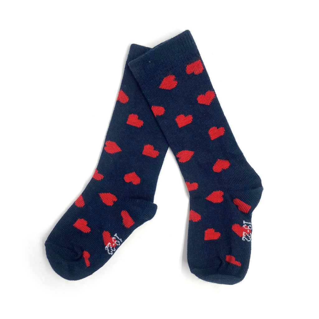 chaussettes marine COEURS