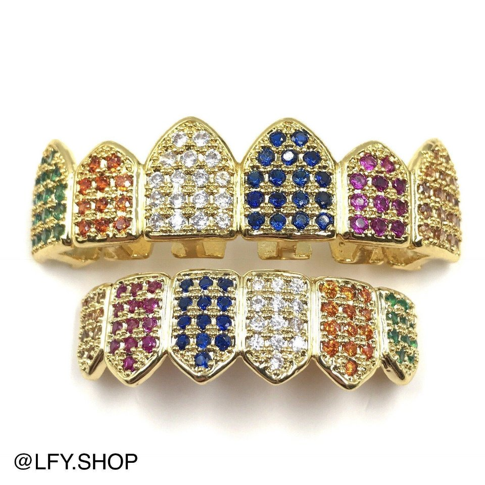 ICED Rainbow Grills in Gold