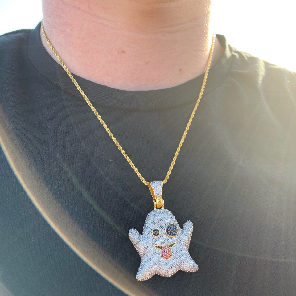 ICED Ghost Pendant in Gold