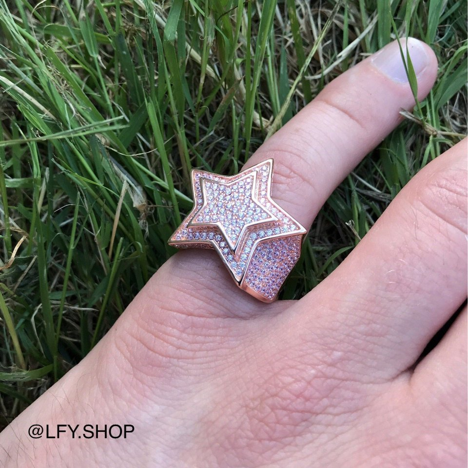 ICED Star Ring in Rose Gold