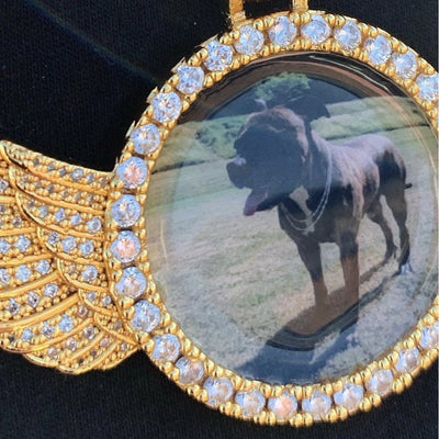 ICED Custom Baller Wings Picture Pendant 38mm