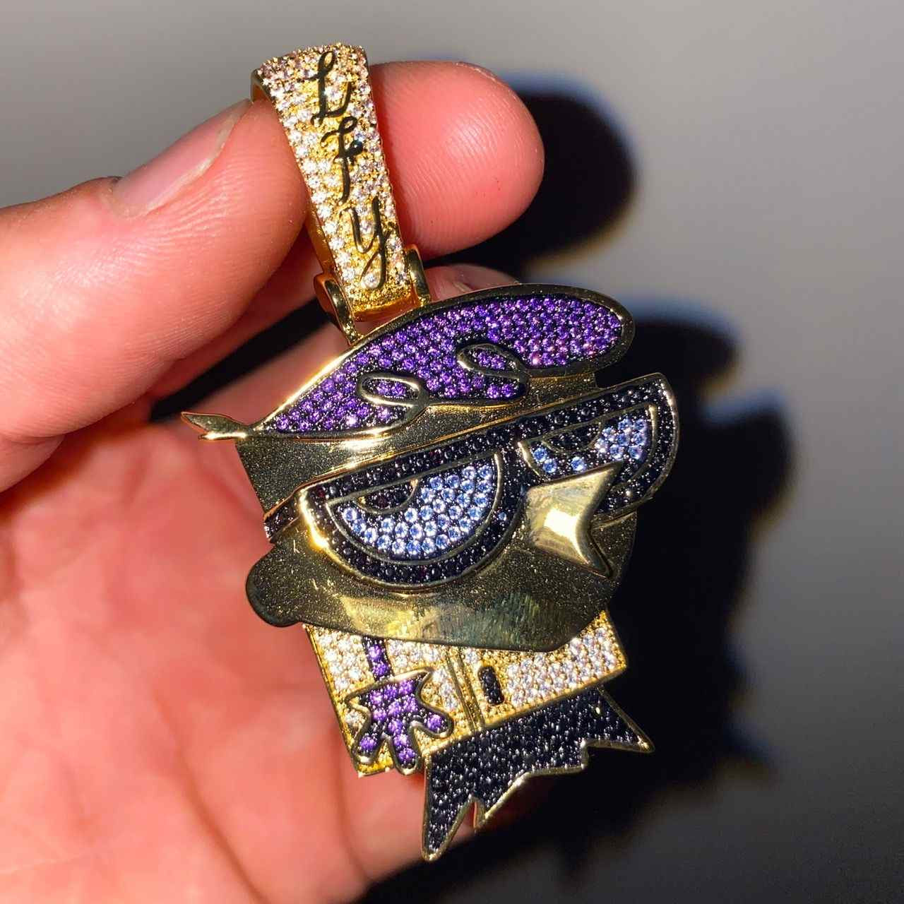ICED Dexter Pendant in Gold