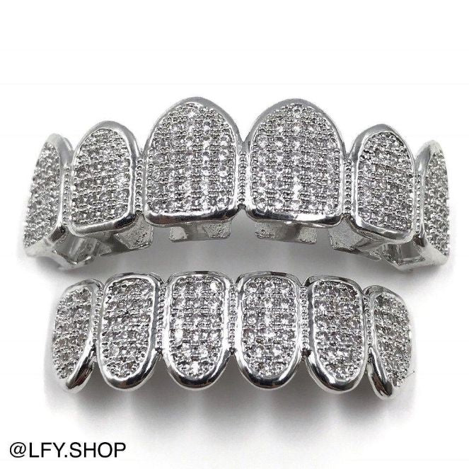 ICED Grills in White Gold