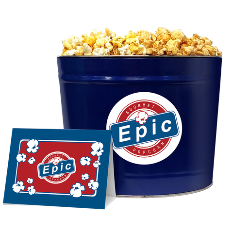 Epic Gourmet Popcorn Blue Trio Popcorn Tin - Personalized Gift