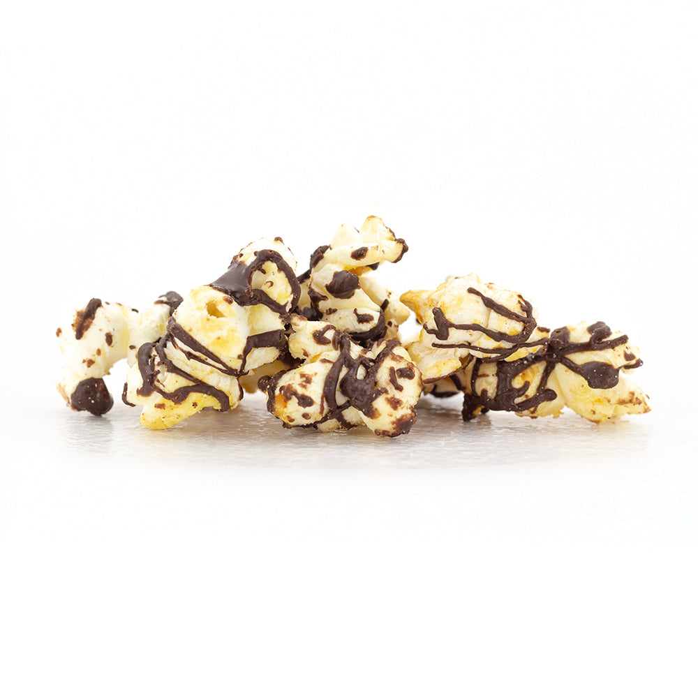 Dark Chocolate Drizzle Popcorn