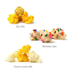 Epic Gourmet Popcorn Birthday Box Flavors