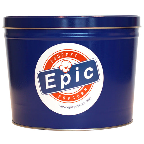 2 Gallon Epic Blue Popcorn Tin