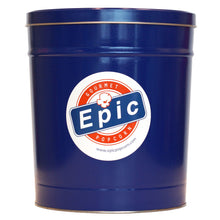 Load image into Gallery viewer, 3 Gallon Epic Blue Popcorn Tin