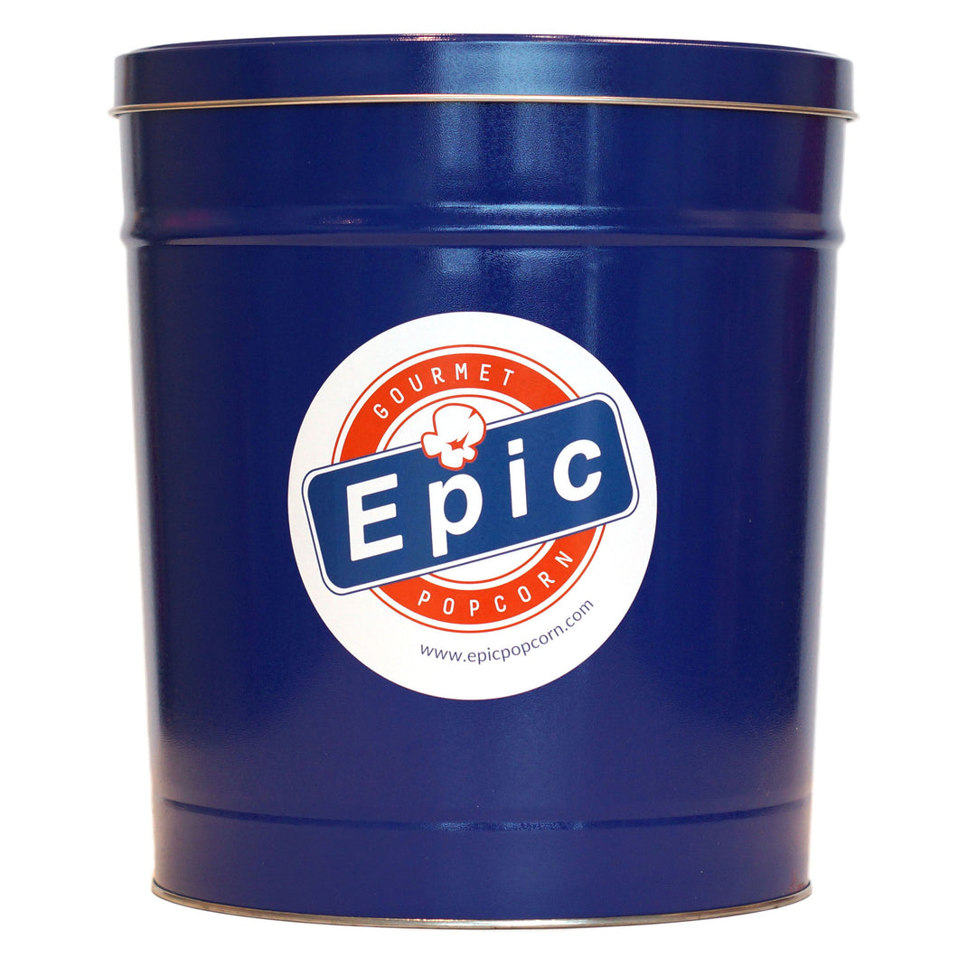 3 Gallon Epic Blue Popcorn Tin
