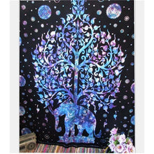 Load image into Gallery viewer, Peace Elephant Tapestry Home Decor Mandala Tapestry Wall Carpet Indian Style Mandala Tapiz Yoga Mat Beach Towel Blanket Bohemian