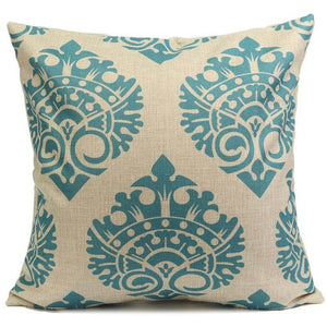 Paisley Pillow Case Bohemian Geometric Pillowcase Cotton Linen Ethnic Pillow Cover Bedroom 18x18 Inches Throw Pillows