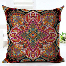 Load image into Gallery viewer, Paisley Pillow Case Bohemian Geometric Pillowcase Cotton Linen Ethnic Pillow Cover Bedroom 18x18 Inches Throw Pillows