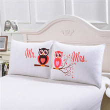 Load image into Gallery viewer, BeddingOutlet Body Pillowcase Mr and Mrs Owls Romantic Pillow Case Soft Pillow Cover Valentine's Day Gift Home Textiles One Pair