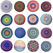 Load image into Gallery viewer, Homing Mandala Elephant Pattern Cushion Cover Yoga Bohemian Tassel Paisley Throw Cozy Pillow Cover Meditation Cushion Decorative