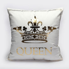 Load image into Gallery viewer, BeddingOutlet Bronzing Christmas Cushion Cover Gold Printed Pillow Cover Decorative Pillow Case Sofa Seat Car Pillowcase Soft