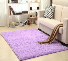 Load image into Gallery viewer, Super Soft Silk Wool Rug Indoor Modern Shag Area Rug Silky Rugs Bedroom Floor Mat Baby Nursery Rug Children Carpet