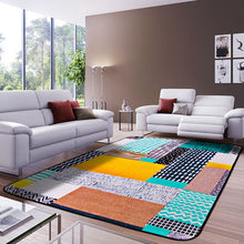Load image into Gallery viewer, Geometric Pattern Printed Rectangles Carpet Rugs Soft Thicken Bohemian Floor Mats Living Room Non-Slip Water Absorption Doormats