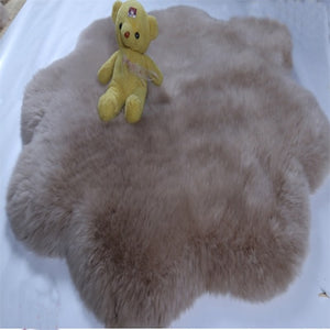 Super Soft Lauxury Natural Sheepskin Rugs Quincunx Bed Real Sheepskin Rug Sheepskin Cushion Fur Rug For Bedroom Floor Fur Mat