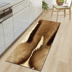 Free Shipping Milk Cow Artificial Fur Rug Badkamer Bath Mat Door Floor Tapete Banheiro Carpet For Toliet Non Slip Alfombra Bano