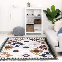 Load image into Gallery viewer, Kilim 100% India Cotton Bohemian Carpet For Living Room Bedroom bedside Wilton Rug Geometric Modern Mat With Nordic style