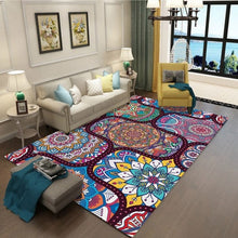 Load image into Gallery viewer, Bohemian Retro Rug Art Ethnic Chinese Style 3D Carpet Lving Room Bedroom Study Mat Machine Washable custom Home Accessories
