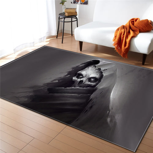 Large Home Textile Living Room Skull Carpet American European Rectangle Bedroom Mat Decorative Anti Slip Washable Polyester Rugs